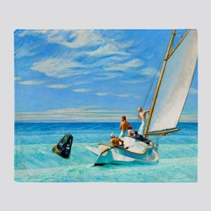 Ground Swell by Edward Hopper Throw Blanket