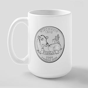 Wisconsin State Quarter Large Mug