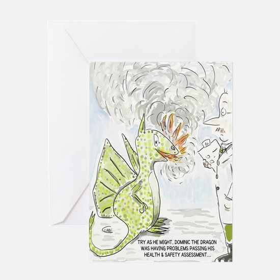 Funny Dragon Health & Safety Cartoo Greeting Cards