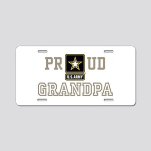 Proud U.S. Army Grandpa Aluminum License Plate