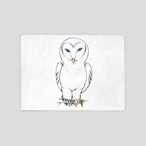 Galactic Barn Owl 5'x7'Area Rug