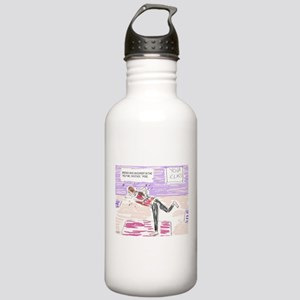 Funny Yoga Cartoon Stainless Water Bottle 1.0L
