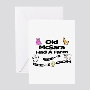 Old McSara Had a Farm Greeting Card