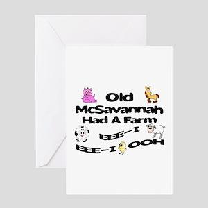 Old McSavannah Had a Farm Greeting Card