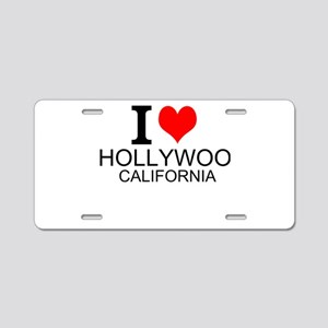 I Love Hollywood, California Aluminum License Plat