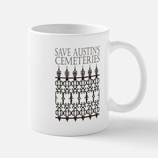 Save Austin's Cemeteries Logo Mugs