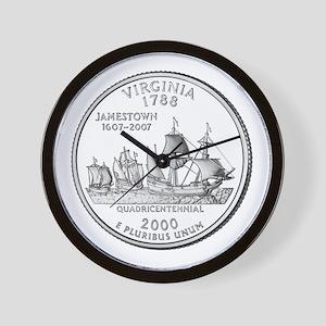 Virginia State Quarter Wall Clock