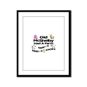 Old McShelby Had a Farm Framed Panel Print