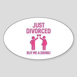 Just Divorced Sticker (Oval)