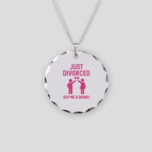 Just Divorced Necklace Circle Charm