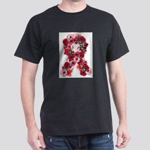 Vintage Flowers Pink Ribbon T-Shirt