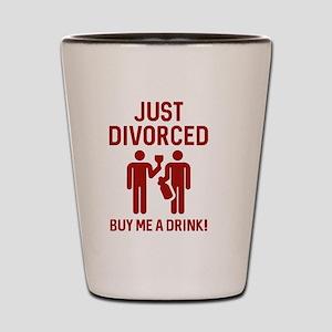 Just Divorced Shot Glass