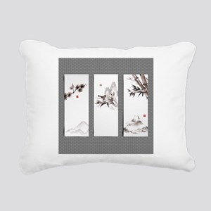 japanese Rectangular Canvas Pillow