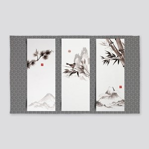 Japanese Banners Area Rug