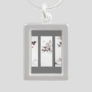 japanese Silver Portrait Necklace