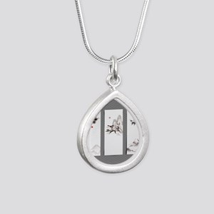 japanese Silver Teardrop Necklace
