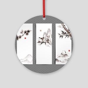 japanese Round Ornament