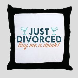 Just Divorced Throw Pillow