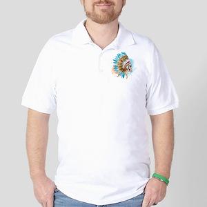 Skull Headdress Golf Shirt