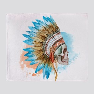 Skull Headdress Throw Blanket