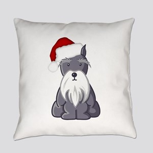 Santa Schnauzer Everyday Pillow