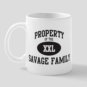 Property of Savage Family Mug