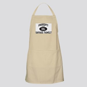 Property of Savage Family BBQ Apron