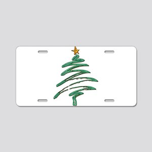 Sweeping Green Metallic Log Aluminum License Plate