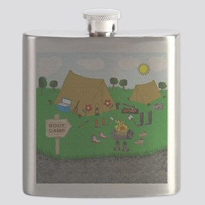 Boot Camp Humor Flask