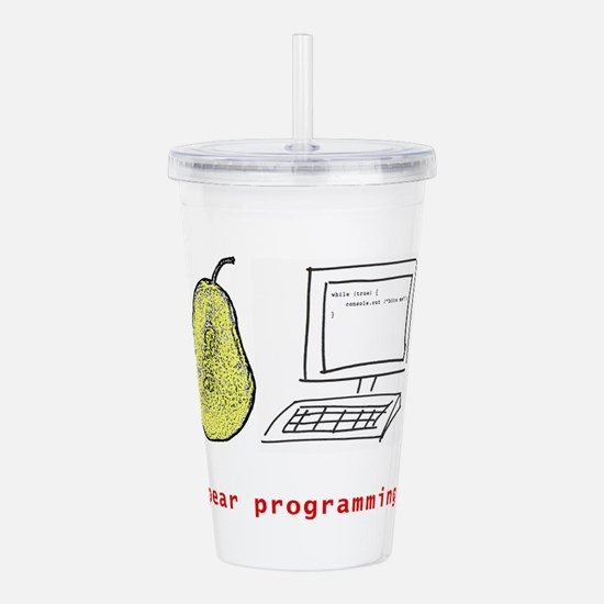 Pear Programming Acrylic Double-wall Tumbler