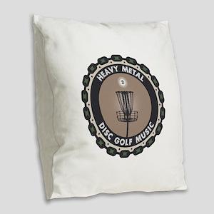 Disc Golf Chains Burlap Throw Pillow