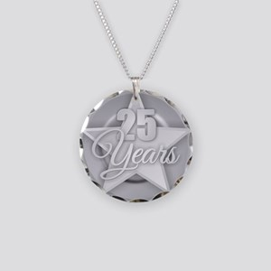 25 Years Necklace Circle Charm