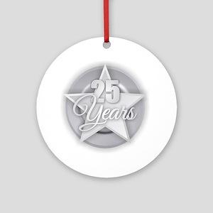 25 Years Round Ornament