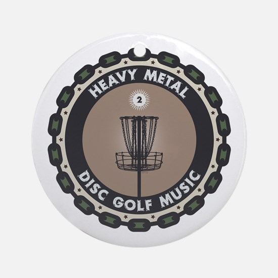 Disc Golf Chains Round Ornament