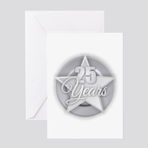 25 Years Greeting Cards