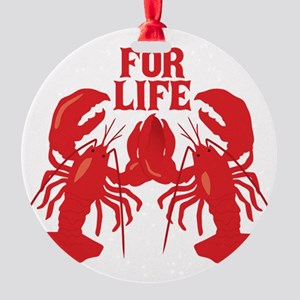 Lobsters Mate For Life Round Ornament