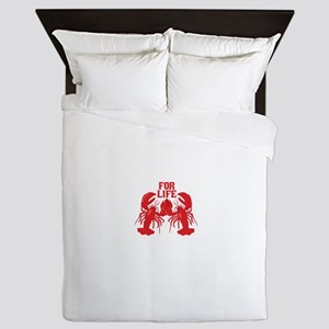 Lobsters Mate For Life Queen Duvet