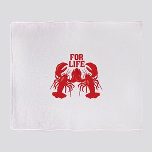 Lobsters Mate For Life Throw Blanket