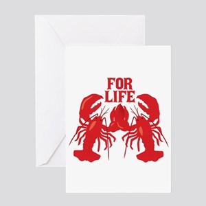 Lobsters Mate For Life Greeting Cards