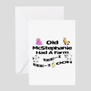Old McStephanie Had a Farm Greeting Card