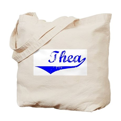 Thea Vintage (Blue) Tote Bag