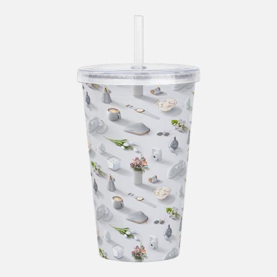 Girl's White Dream Acrylic Double-wall Tumbler