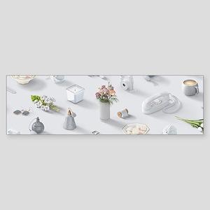 Girl's White Dream Sticker (Bumper)