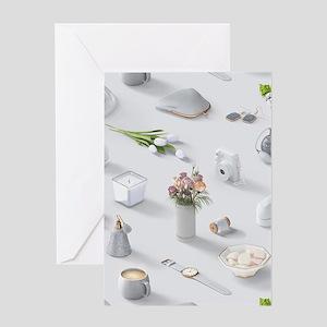 Girl's White Dream Greeting Card
