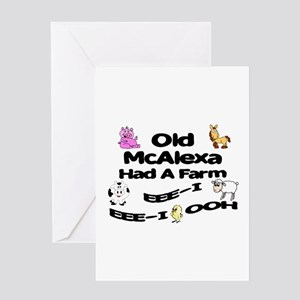 Old McAlexa Had a Farm Greeting Card