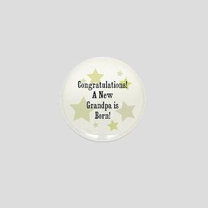 Congratulations! A New Grandp Mini Button