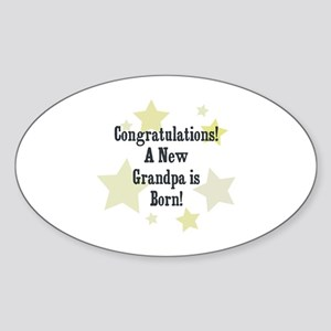 Congratulations! A New Grandp Oval Sticker