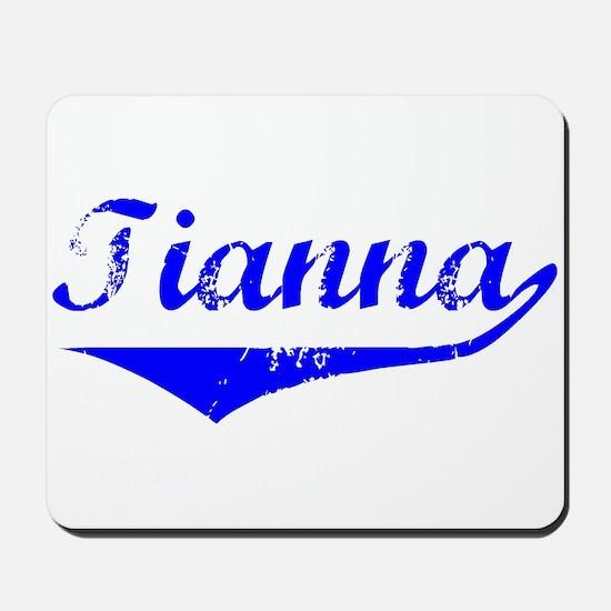 Tianna Vintage (Blue) Mousepad