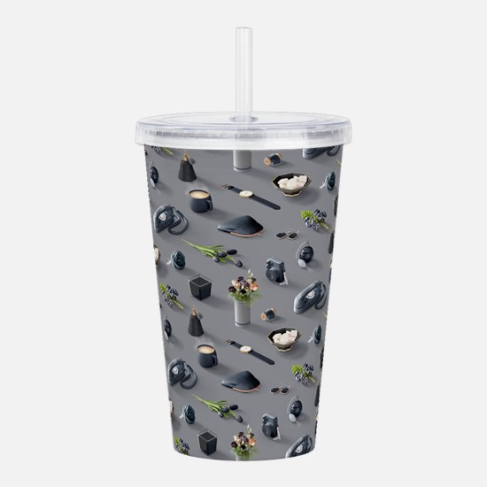 Girl's Black Dream Acrylic Double-wall Tumbler