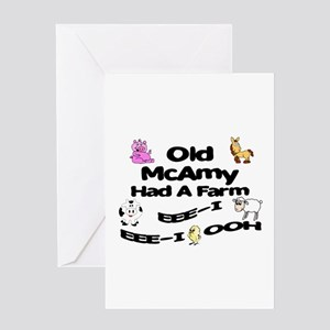 Old McAmy Had a Farm Greeting Card